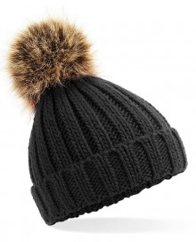 INFANT/JUNIOR FUR POM POM CHUNKY BEANIE B412A/B412B 10.BF.3.M45