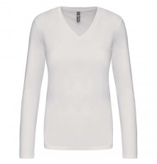 LADIES' LONG SLEEVE V-NECK T-SHIRT 05.KA.1.937.1A01