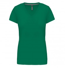 LADIES' SHORT SLEEVE V-NECK T-SHIRT 05.KA.1.936.3F05